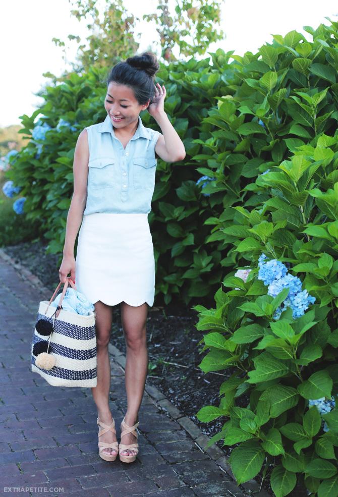 topshop scallop hem miniskirt3