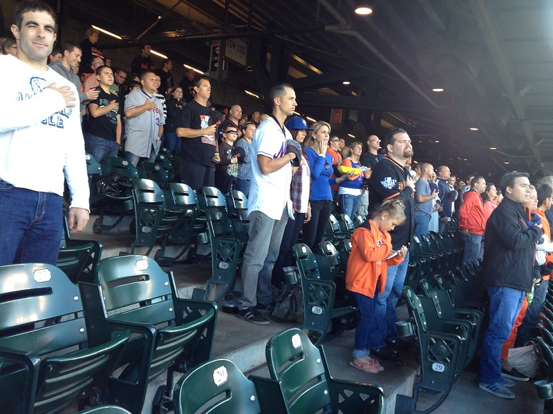 National Anthem at the Baseball