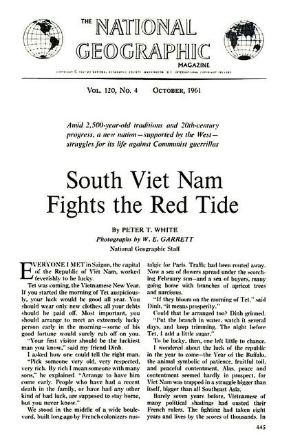 NATIONAL GEOGRAPHIC - October 1961 (1) - South Viet Nam Fights The Red Tide - Nam Việt Nam chiến đấu chống thủy triều đỏ