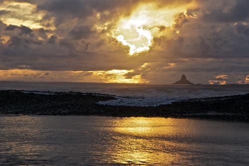ocean light sunset sea newzealand cloud reflection beach water canon landscape gold coast phormium westcoast harakeke phormiumtenax rapahoe