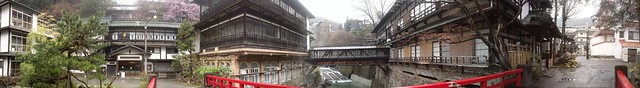 Sekizen, japanese old style hotel with Onsen, Panorama