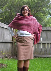 Knitter of the Month: Tamara's Wrap