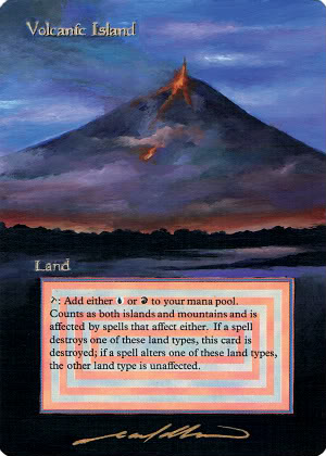 Volcanic Island altered revised land art