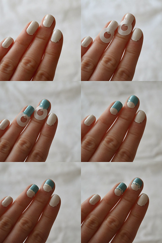 DIY Lace Frill Nails 2