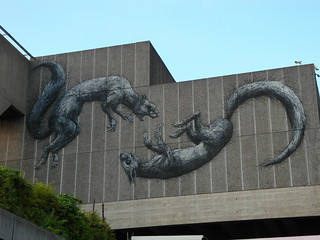 Roa art at Royal Festival Hall