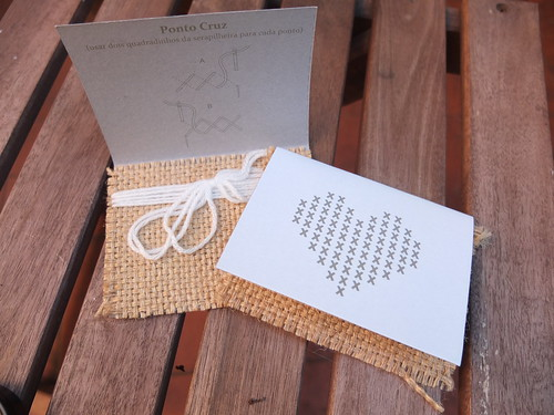 Wedding favor - cross stitch heart