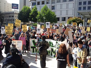 trayvon martin rally in SF