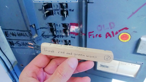 tempted by the totally legit fire alarm test.  II.