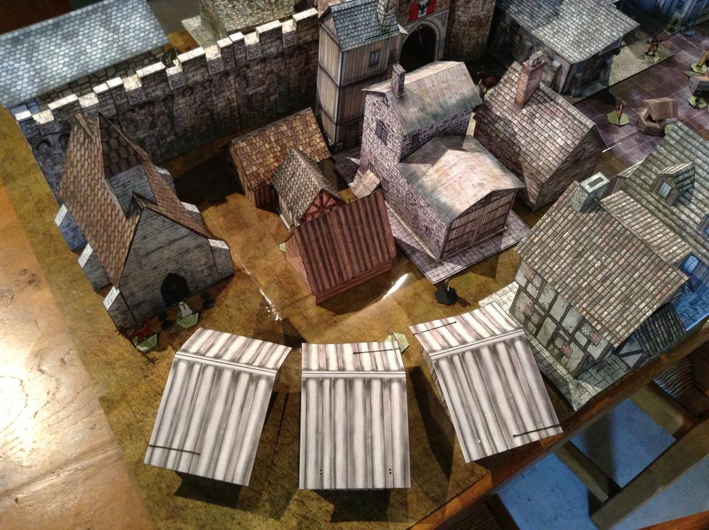 Winterhaven 3D papercraft terrain