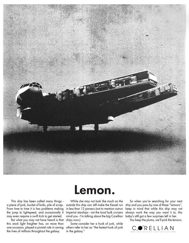 Lemon Millennium Falcon