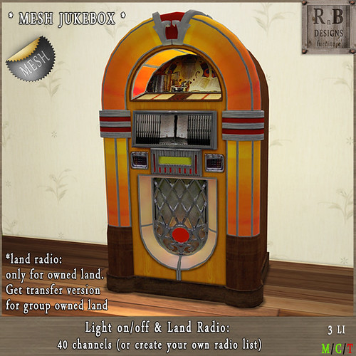 PROMO ! *RnB* Mesh JukeBox - Light & Radio (copy)