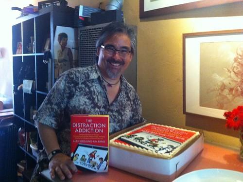 Me + book + cake