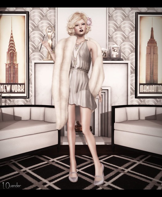 C88 August - Baiastice_Claudette dress & Mink Princess Stole - Champagne
