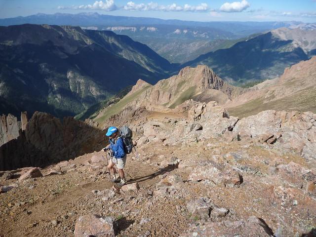 approaching the summit massif