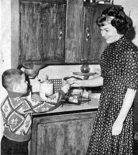 My mom and brother in 1965