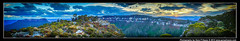 Sunset Landslide Lookout, Blue Mountains, Fuji X100s 1526