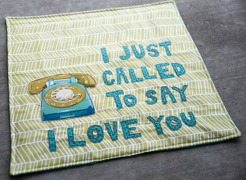 "I Just Called to Say, ""I Love You"" Wall-Hanging"