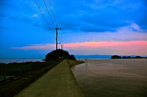 sunset sea sky japan pentax kr kumamoto kyusyu amakusa