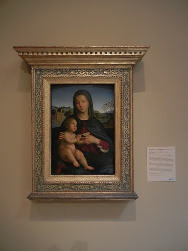DSCN7689 _ Madonna and Child with Book, c. 1502-03, Raffaello Sanzio, called Raphael (1483-1520), Norton Simon Museum, July 2013