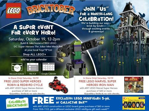 Toys R Us LEGO Bricktober