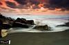 sunset at glagah beach