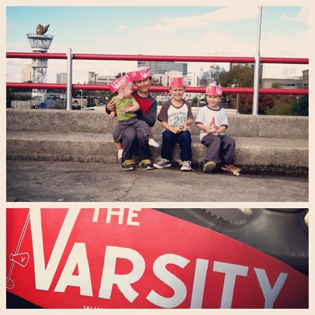 #thevarsity alone with four dudes after hours at #zooatlanta :) - very successful trip!