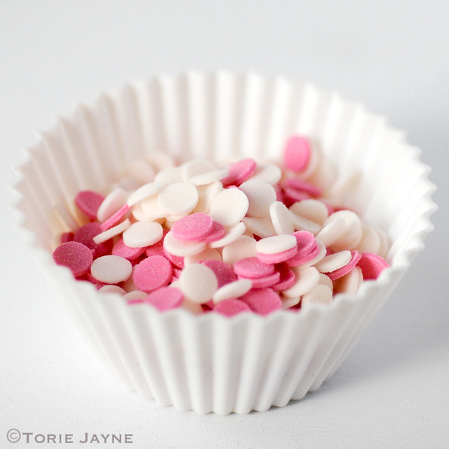 Pink & white sugar dots