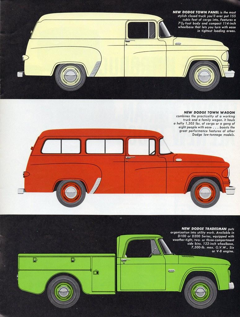 1961 Dodge Town Panel Wagon And Tradesman Utility Truck A Photo Pickup