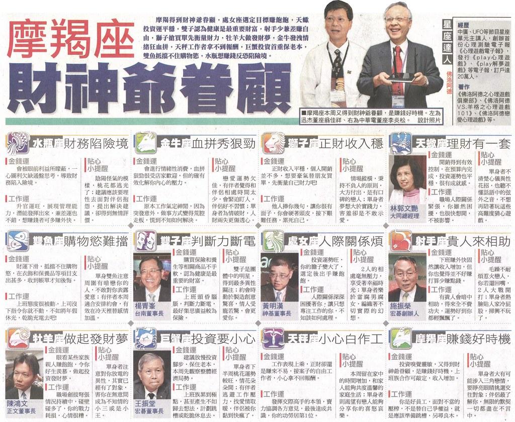 20131110[蘋果日報]星座理財