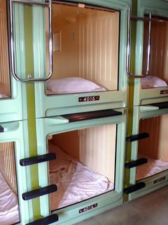 Hotel cápsula, en Japón.