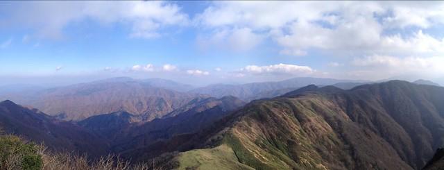 冠山頂上からの展望