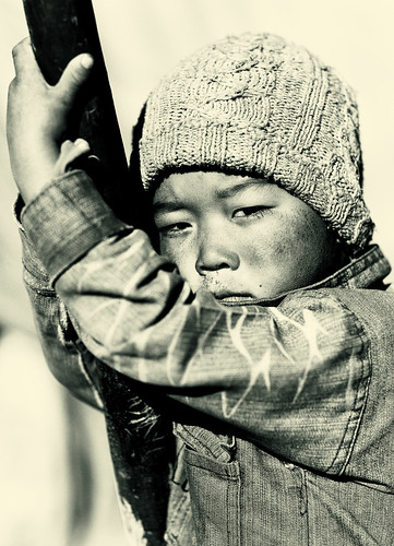 Nomad child in Changtang, Ladakh