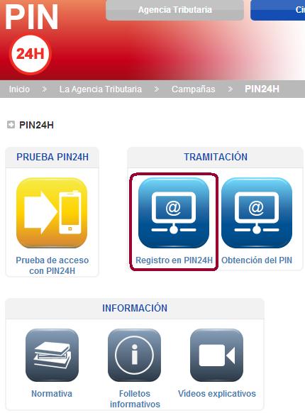 Acceso a registro en PIN24H
