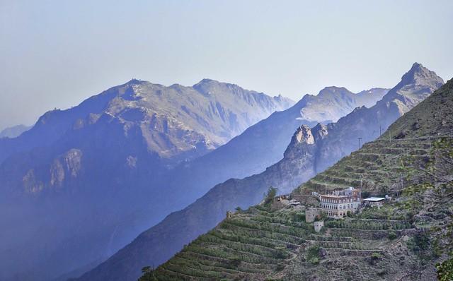 Las aldeas fortificadas de Jabal Haraz. Montañas Haraz. Yemen