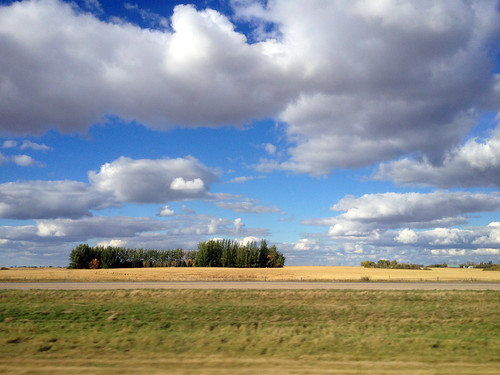 autumn canada highway saskatchewan 2013