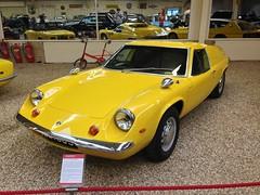 race car, automobile, vehicle, antique car, lotus europa, land vehicle, sports car,