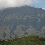 Crater in Maui with hill