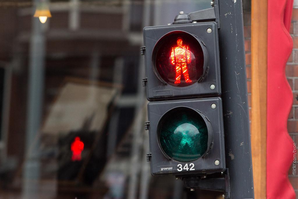 Светофор в Амстердаме