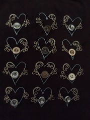 flying heart charms