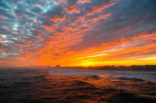 ocean sunset sky beach clouds wrightsville