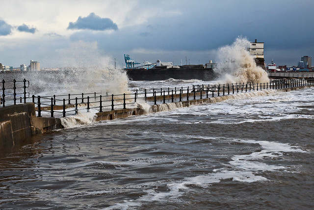 Storm Surge at the Fort : [New Brighton ; 3-Jan-2014]