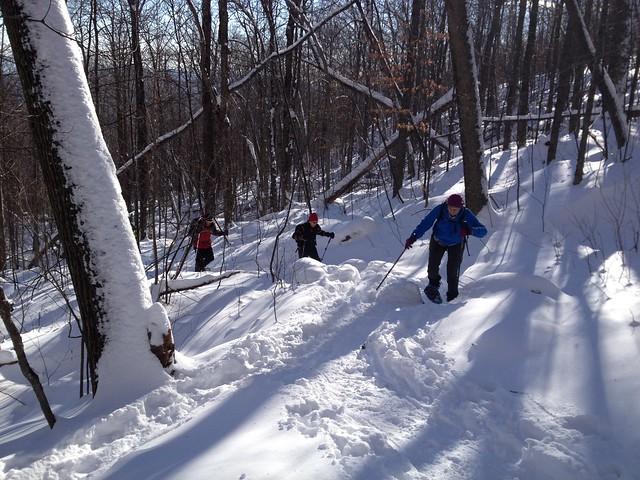 Snowshoeing Hadley Mountain