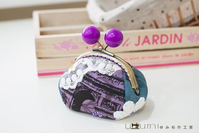 巴黎凱旋門蕾絲口金包1