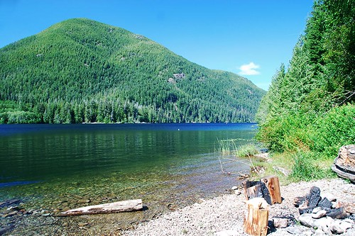 Sarita Lake Recreation Site near Bamfield, West Coast Vancouver Island, British Columbia