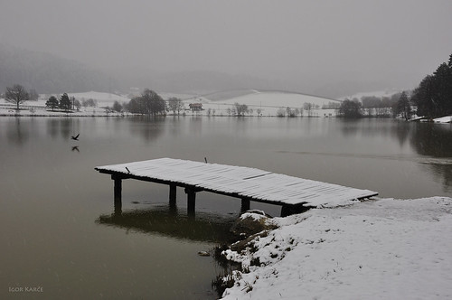 winter lake landscape velenje igork54