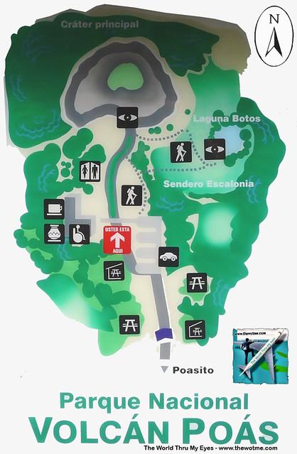 Mapa del parque nacional volcán poás volcán poás - 12156870245 59e5018b60 z - Volcán Poás en Costa Rica