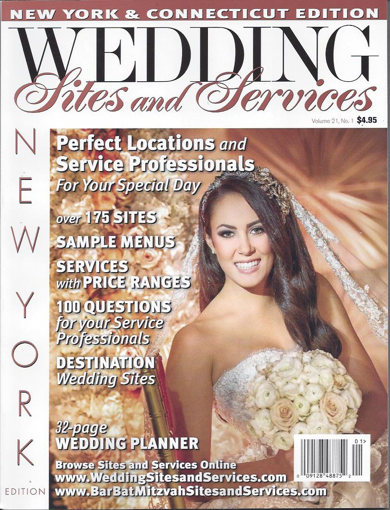 Robin on cover of Sites and Services- headpiece- Bridal Styles Boutique