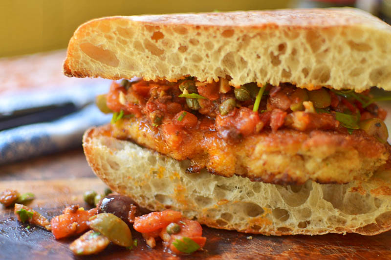 Chicken Puttanesca Sandwich via LittleFerraroKitchen.com
