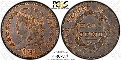 1811 half cent PCGS MS66
