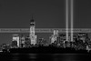 Tribute In Light 2013 BW by Susan Candelario